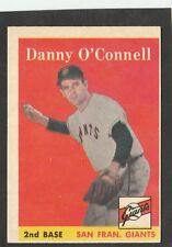 1958 Topps Danny O Connell #166 Baseball Card