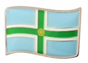 Derbyshire County Wavy Flag Pin Badge - LAST FEW