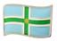 縮圖 1 - Derbyshire County Wavy Flag Pin Badge - LAST FEW