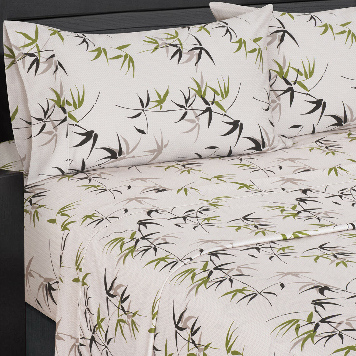 Fern 300 Thread Count Floral Print Bed Sheets, 100% Cotton Printed Bed Sheet Set