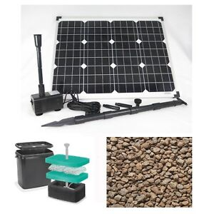 50 watt solar teichpumpe filter pumpe gartenteich tauchpumpe garten bachlauf neu ebay. Black Bedroom Furniture Sets. Home Design Ideas