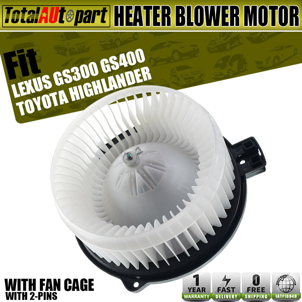 New Front Heater A//C Blower Motor w// Fan Cage for Toyota Camry Lexus 87103-0E040