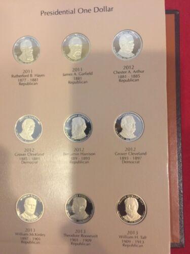 2007-2016 S Presidential $1 39 Coin PROOF COMPLETE Set in New Dansco Album