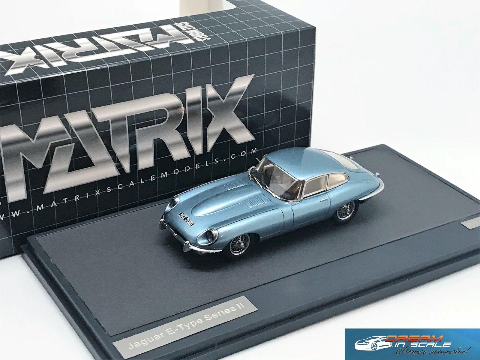 Jaguar e-type sii coupé 1970 blau metallic - matrix mx11001-051 1 43