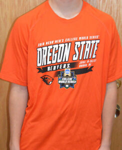 c6510214c Details about 2018 COLLEGE WORLD SERIES OREGON STATE BEAVERS UNDER ARMOUR  HEAT GEAR SHIRT M