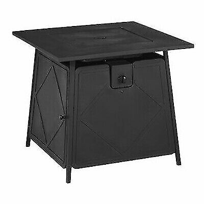 Outstanding Bali Outdoors Square Gas Fire Pit Table Top Black For Sale Online Ebay Download Free Architecture Designs Lectubocepmadebymaigaardcom