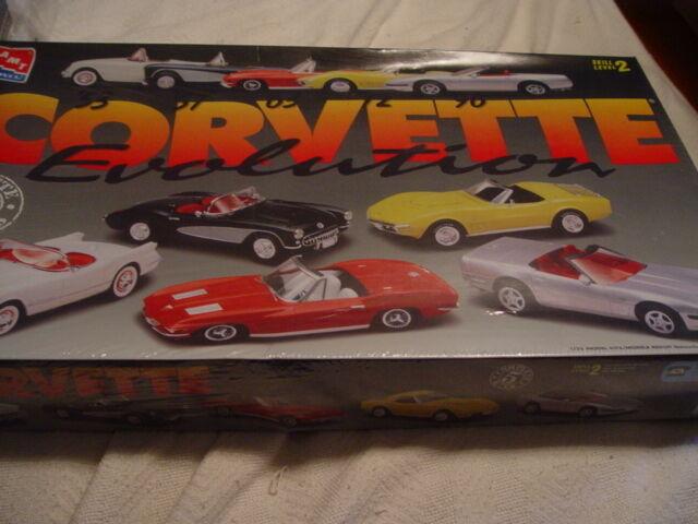 AMT//ERTL 1:25 Corvette Evolution /'53 /'57 /'63 /'72 /'96 5 Car Set SEALED BOX