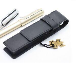 Senator-ET150-Leather-Pen-Pouch-Case-Single-Double-Black