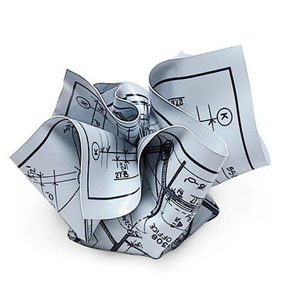 MoMA Museum of Modern Art ARCHITECT BLUEPRINT Crumpled Paperweight #M33848 M&Co.