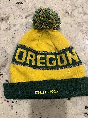 Oregon Ducks NCAA Zephyr Cuffed Knit Pom Hat White
