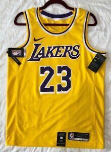 NIKE LEBRON JAMES LOS ANGELES LAKERS 48 LARGE GOLD NBA 100 ...