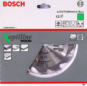 BOSCH-Kreissaegeblatt-OPTILINE-HM-CT-Holz-150-x-16-mm-12-Zaehne