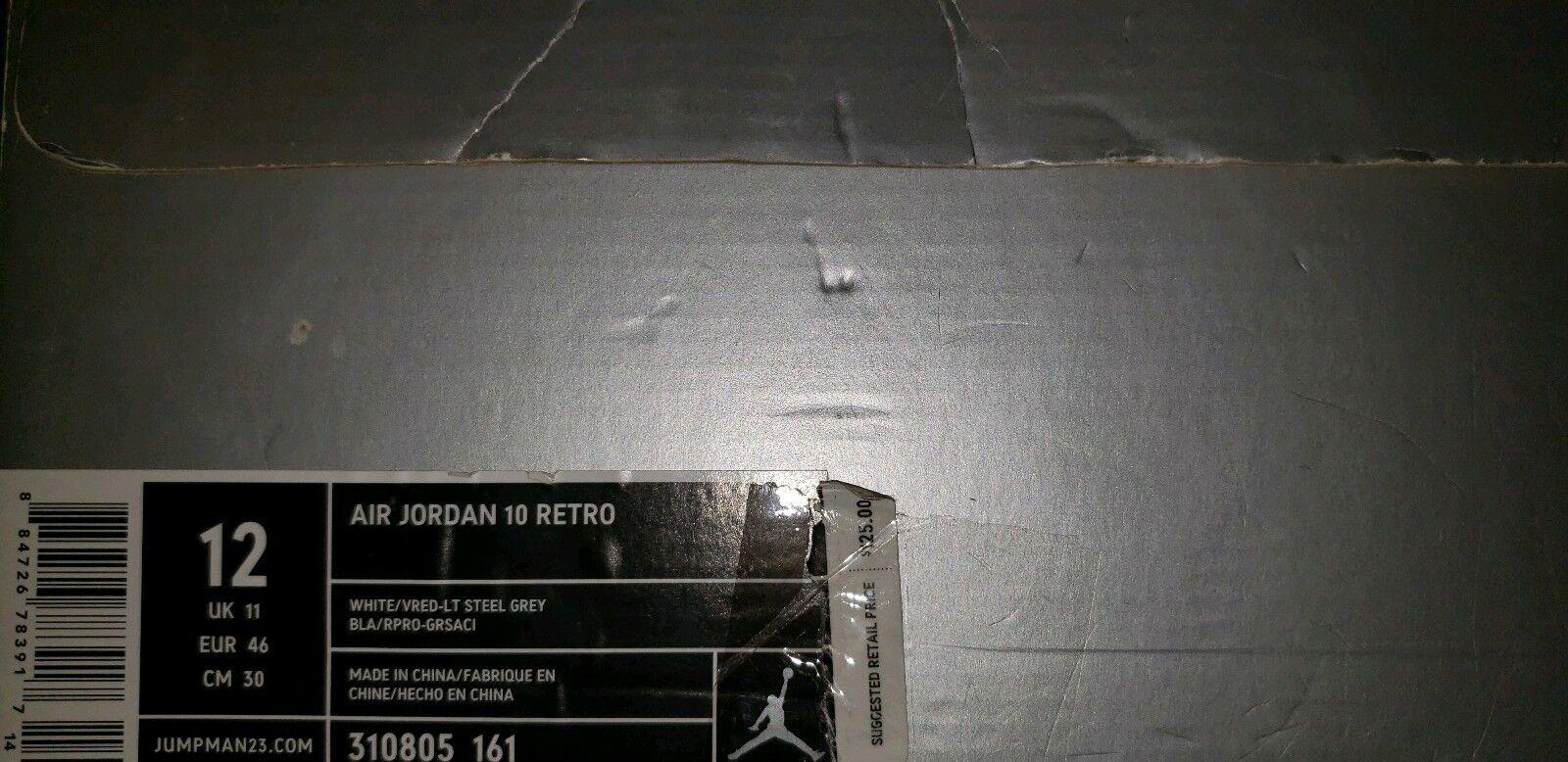 Jordan 10 Red Steel Size 12