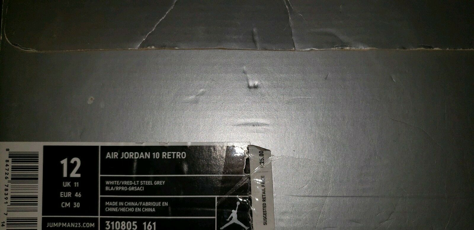Jordan 10 rosso Steel Dimensione 12
