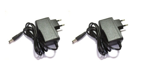 12V DC 1A Pack of 2 AC DC power adapter european asian type C plug
