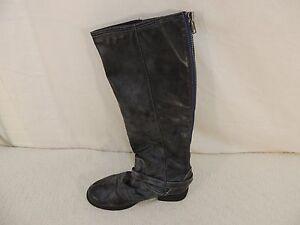 Madden-Girl-Zoiiee-Knee-High-Boot-Women-039-s-6-RIGHT-BOOT-ONLY-Black-Zip-50619