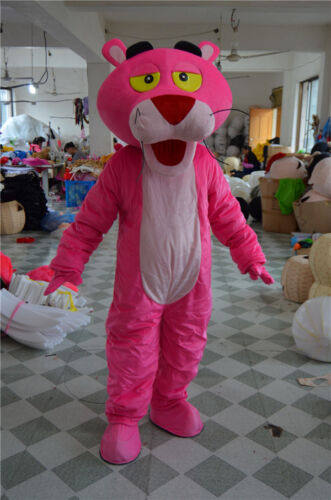 Halloween Pink Panther Mascot Costume Cosplay Party Fancy Dress Outfit Adult Sz