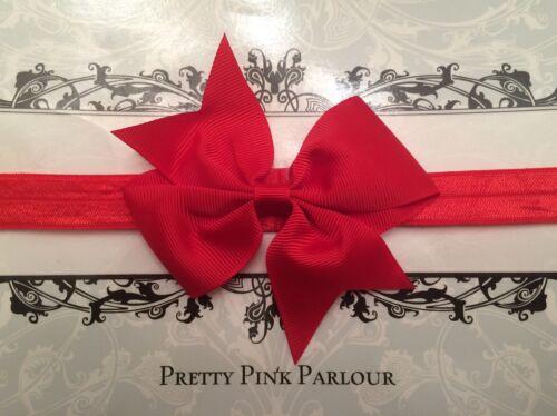 Pink White Cakesmash UK SELLER Baby Girl Bow  Soft Elastic Headbands Newborn