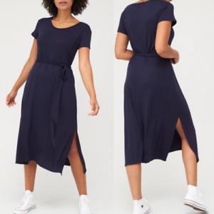 V By Very Navy Short Sleeved Jersey Midi Dress - Size: 16, 18 or 20