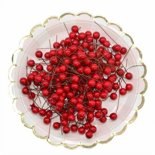 50Pcs 10mm Artificial Flower Fruit Stamens Cherry Wedding Plastic Pearl Berries