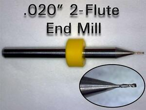 TEN-Pieces-020-034-0-50mm-Solid-Carbide-Micro-End-Mill-Bits-CNC-PCB-Dremel