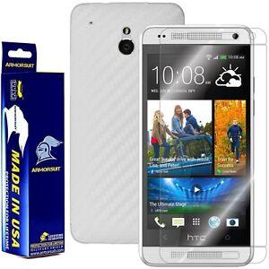 ArmorSuit MilitaryShield HTC One Mini Screen Protector + White Carbon Fiber Skin