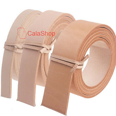 """Leather Pre-cut Belt Blanks 54/"""" x 1 1//2/"""" Natural Cow Vegetable Tan 7-9 oz"""