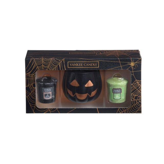 Yankee Candle Halloween Pumpkin Votive Holder & 2 Votive Gift Set