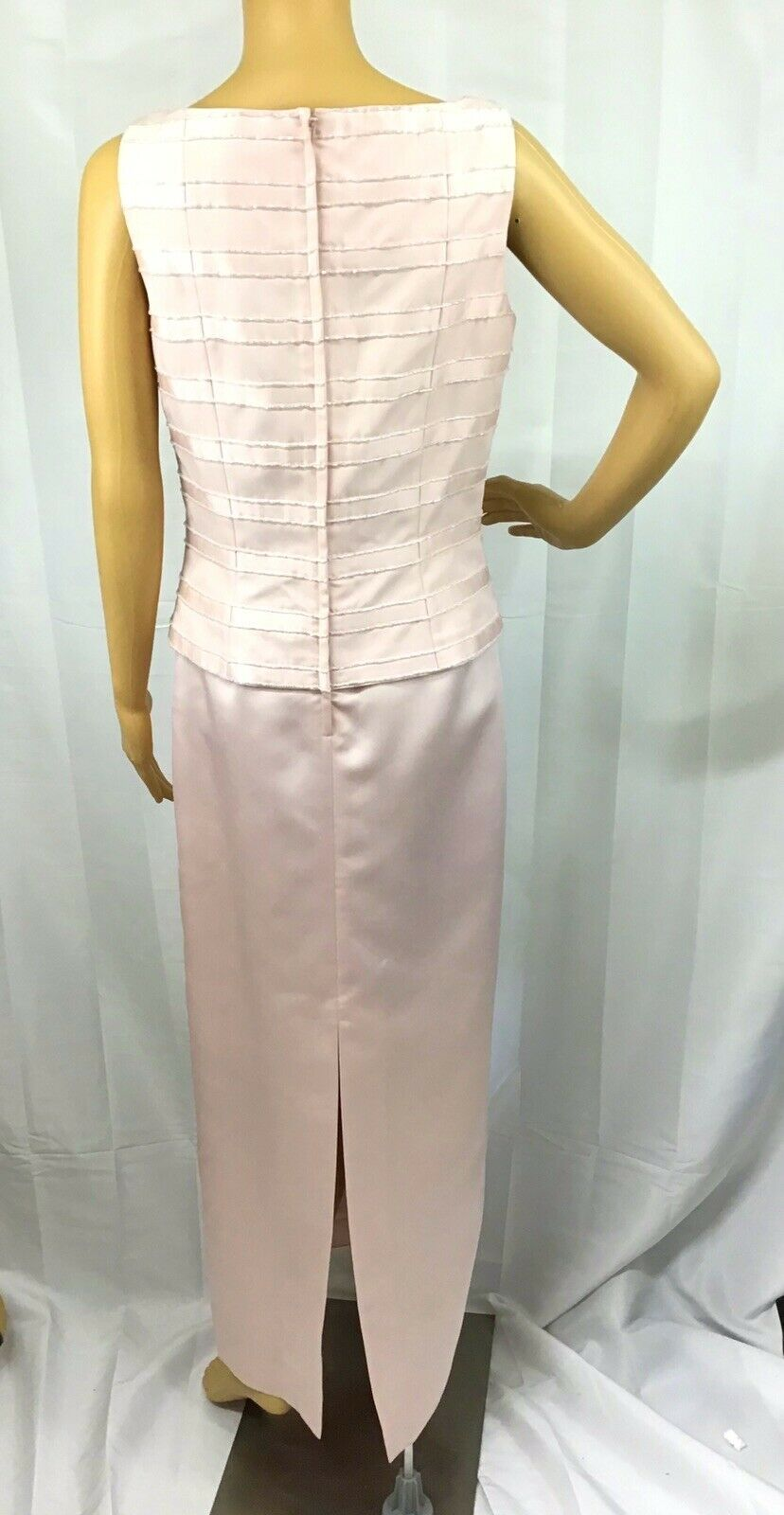 VINTAGE COUTURE MARIE ST. CLAIRE PINK BEADED TRIM… - image 2