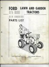 Ford 80 100 120 Gear Amp Hydrostatic Drive Lawn Garden Tractors Parts List Manual
