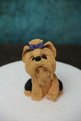 Yorkie Yorkshire Terrier dog puppy edible cake topper