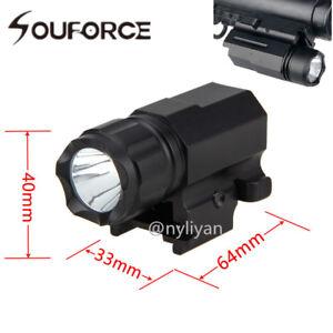 Flashlight-Quick-Detach-Torch-20mm-Picatinny-Rail-For-Pistol-Glock-17-19-20
