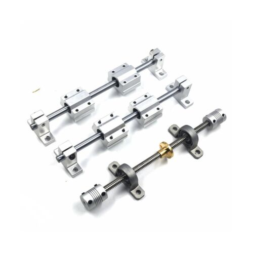 Mergorun 200mm Horizontal Optical Axis /& 8mm Lead Screw Dual Rail Shaft Suppo...