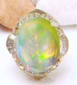 18-15-Carat-Natural-Opal-14K-Solid-Yellow-Gold-Diamond-Ring