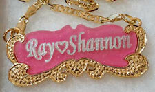 Handmade Personalized Jewelry Name Necklace 18K  Gold Plated with Any Name NY#3