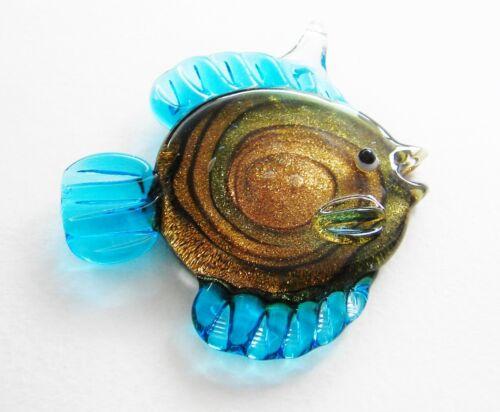 Remolque de vidrio goldansand joyas remolque pescado serajosy 48x58mm