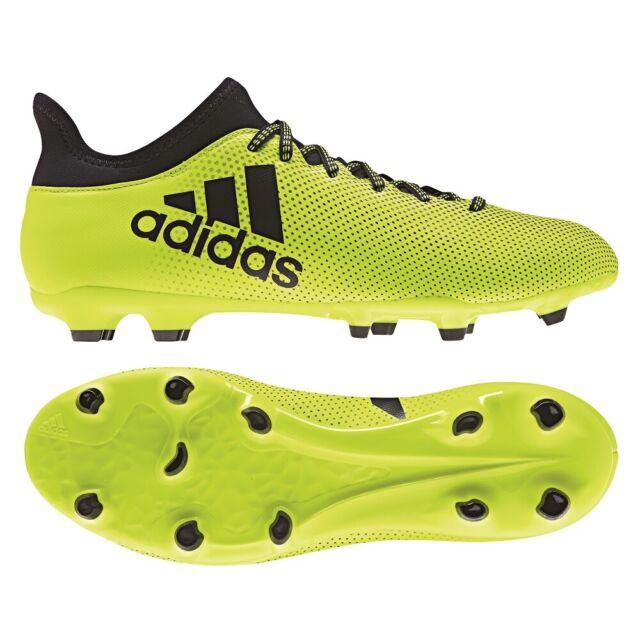 Adidas X 17.3 Fg 43 46 Chaussures de Football Firm Terrain Rasenplatz Fluo Navy