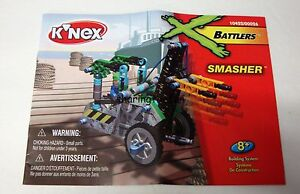 KNEX INSTRUCTION MANUAL ONLY #10422 Battlers: Smasher Book / Instructions