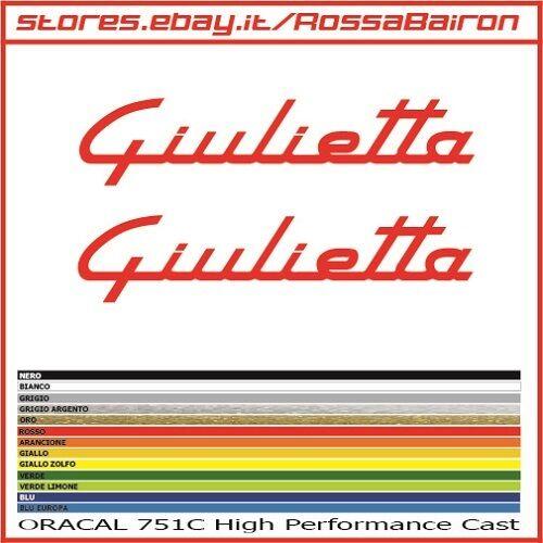 KIT 2 ADHESIVES ALFA ROMEO GIULIETTA mm.150 x 33 STICKERS AUFKLEBER DECALS
