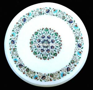 16-034-Round-Marble-Coffee-Table-Top-Inlaid-Floral-Outdoor-Home-Decorative-H1966