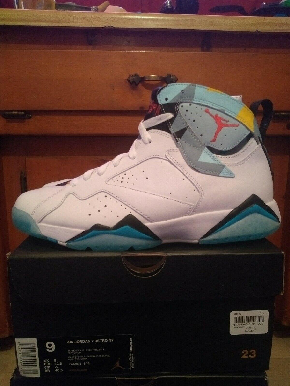 Jordan 7 N7 bluee White Size 9 DS