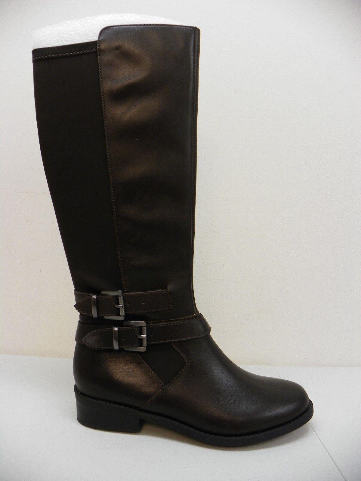 Me Too Mujer Zapato Denver 6 Alto Tacón Bajo botas De Montar Cuero Marrón Oscuro 8M