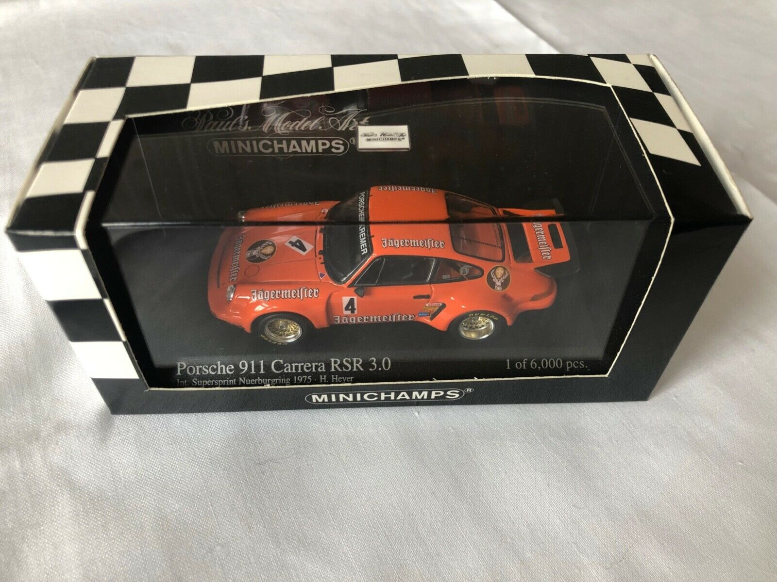 Porsche 911 Carrera RSR 3.0 Supersprint 1975 Heyer 430756904 Minichamps in 1 43