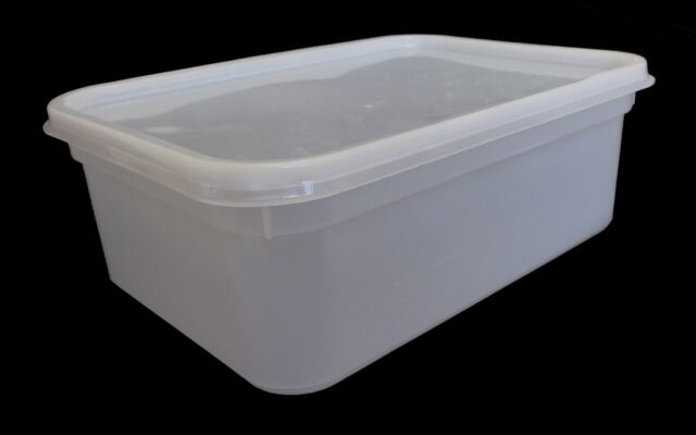 2 Litre Rectangular Ice Cream Tubs Food Storage Containers 10 eBay