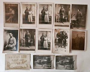 Lot de 13 Cartes postale photos Photos Poilu Français de 14/18 Chasseurs Alpins