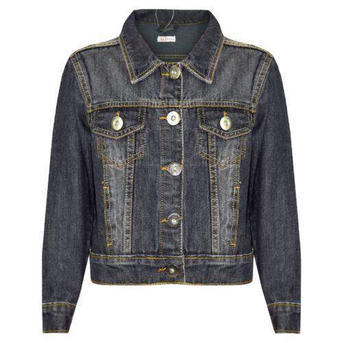 Kids Girls Black Denim Designer Style Jackets Fashion Jeans Jacket Coats 3-13Yrs