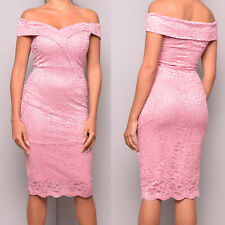 0eecedfbb3b1 item 4 Ladies Ex Quiz Pink Lace Bardot Midi Prom Evening Party Cocktail  Occasion Dress -Ladies Ex Quiz Pink Lace Bardot Midi Prom Evening Party  Cocktail ...