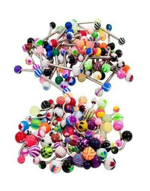 Coolrunner 100 Mix Pack 50pc 14g Belly Button Rings And 50pc 14 Free Shipping