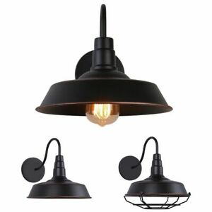 Industrial-Barn-Wall-Mount-Lamp-Retro-Metal-Gooseneck-Arm-Sconce-Light-Fixture