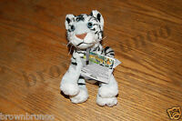 Microsoft Xbox 360 Kinectimals Plush White Tiger W/ Kinect Code